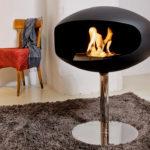 Hogar bioetanol Cocoon Fires modelo Pedestal Black