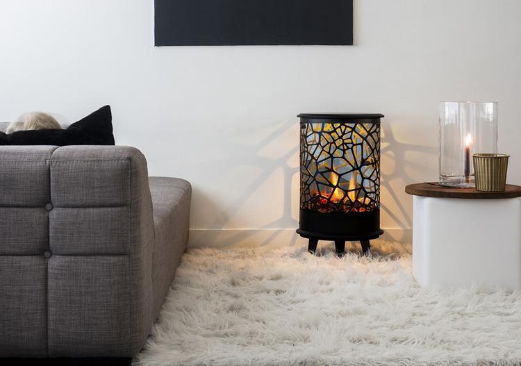 chimenea fuego electrico modelo Opti-Virtual 360 Estufa Faber