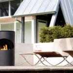 chimeneas de exterior Rubyfires modelo Silo