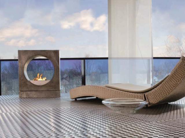 chimeneas exterior de bioetanol Rubyfires modelo Milano