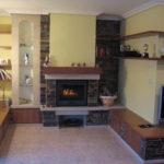 Mueble de madera con piedra taco y granito silvestre